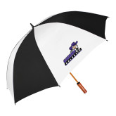 62 Inch Black/White Vented Umbrella-Curry Colonels