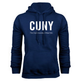 City University of NY Navy Fleece Hoodie-CUNY Unboxed w/Tagline