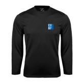 City University of NY Performance Black Longsleeve Shirt-CUNY