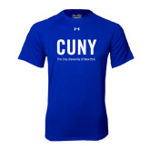 Under Armour Royal Tech Tee-CUNY Unboxed w/Tagline
