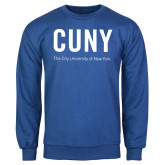 City University of NY Royal Fleece Crew-CUNY Unboxed w/Tagline