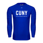Under Armour Royal Long Sleeve Tech Tee-CUNY Unboxed w/Tagline