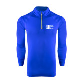 City University of NY Under Armour Royal Tech 1/4 Zip Performance Shirt-Official Logo