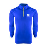 City University of NY Under Armour Royal Tech 1/4 Zip Performance Shirt-CUNY