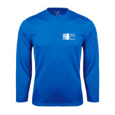 City University of NY Performance Royal Longsleeve Shirt-Official Logo