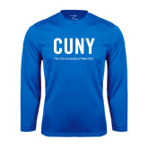City University of NY Performance Royal Longsleeve Shirt-CUNY Unboxed w/Tagline