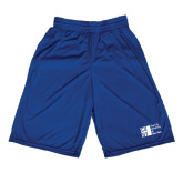 City University of NY Russell Performance Royal 10 Inch Short w/Pockets-Official Logo