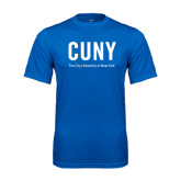 City University of NY Performance Royal Tee-CUNY Unboxed w/Tagline