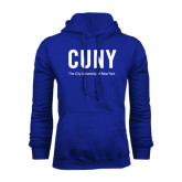 City University of NY Royal Fleece Hoodie-CUNY Unboxed w/Tagline