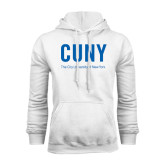 City University of NY White Fleece Hoodie-CUNY Unboxed w/Tagline