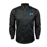 City University of NY Red House Black Long Sleeve Shirt-Official Logo