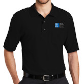 City University of NY Black Easycare Pique Polo w/ Pocket-Official Logo