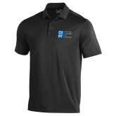 City University of NY Under Armour Black Performance Polo-Official Logo