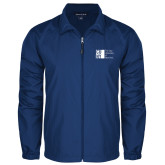 City University of NY Full Zip Royal Wind Jacket-Official Logo