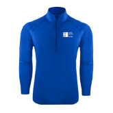 City University of NY Sport Wick Stretch Royal 1/2 Zip Pullover-Official Logo