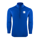 City University of NY Sport Wick Stretch Royal 1/2 Zip Pullover-CUNY