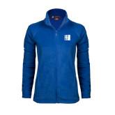Ladies Fleece Full Zip Royal Jacket-CUNY
