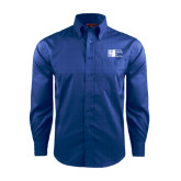 City University of NY Red House French Blue Long Sleeve Shirt-Official Logo