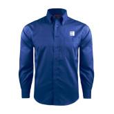 City University of NY Red House French Blue Long Sleeve Shirt-CUNY