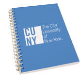 City University of NY Clear 7 x 10 Spiral Journal Notebook-Official Logo