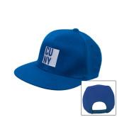 City University of NY Royal Flat Bill Snapback Hat-CUNY