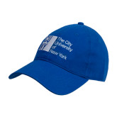 City University of NY Royal Twill Unstructured Low Profile Hat-Official Logo