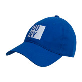 City University of NY Royal Twill Unstructured Low Profile Hat-CUNY