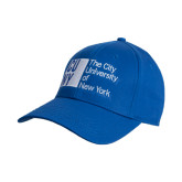 City University of NY Royal Heavyweight Twill Pro Style Hat-Official Logo