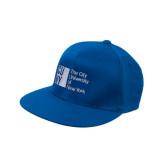 City University of NY Royal OttoFlex Flat Bill Pro Style Hat-Official Logo