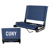 Stadium Chair Navy-CUNY Unboxed w/Tagline