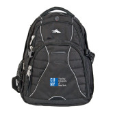 City University of NY High Sierra Swerve Black Compu Backpack-Official Logo