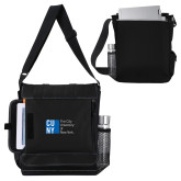 City University of NY Impact Vertical Black Computer Messenger Bag-Official Logo