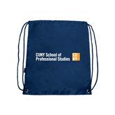 CUNY School of Prof Studies Navy Drawstring Backpack-