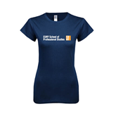 Next Level Ladies SoftStyle Junior Fitted Navy Tee-