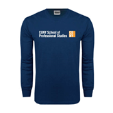 Navy Long Sleeve T Shirt-