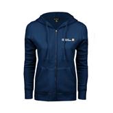 CUNY School of Prof Studies ENZA Ladies Navy Fleece Full Zip Hoodie-