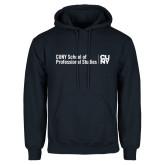 Navy Fleece Hoodie-CUNY SPS Two Line