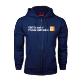 CUNY School of Prof Studies Navy Fleece Full Zip Hoodie-