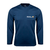 CUNY School of Prof Studies Performance Navy Longsleeve Shirt-