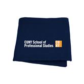 CUNY School of Prof Studies Navy Sweatshirt Blanket-