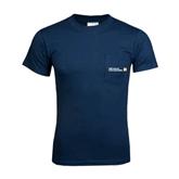 Navy T Shirt w/Pocket-