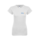 Next Level Ladies SoftStyle Junior Fitted White Tee-