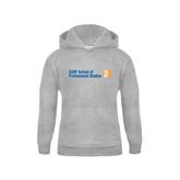 CUNY School of Prof Studies Youth Grey Fleece Hood-