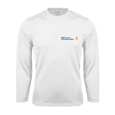 CUNY School of Prof Studies Performance White Longsleeve Shirt-