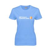 CUNY School of Prof Studies Ladies Sky Blue T Shirt-