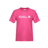CUNY School of Prof Studies Youth Cyber Pink T Shirt-