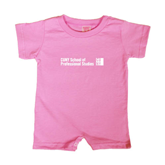 CUNY School of Prof Studies Bubble Gum Pink Infant Romper-