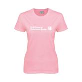 CUNY School of Prof Studies Ladies Pink T Shirt-