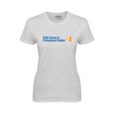 CUNY School of Prof Studies Ladies White T Shirt-
