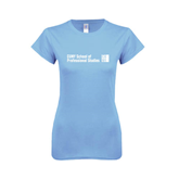 Ladies SoftStyle Junior Fitted Light Blue Tee-